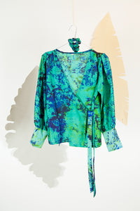 A Splash of Batik Blouse - S #10