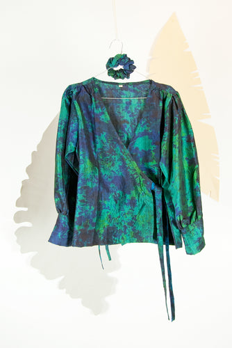 A Splash of Batik Blouse - M #11