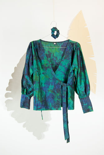 A Splash of Batik Blouse - S #11