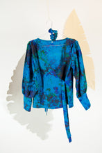 A Splash of Batik Blouse - S #12
