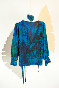 A Splash of Batik Blouse - M #16