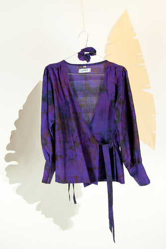 A Splash of Batik Blouse - M #20
