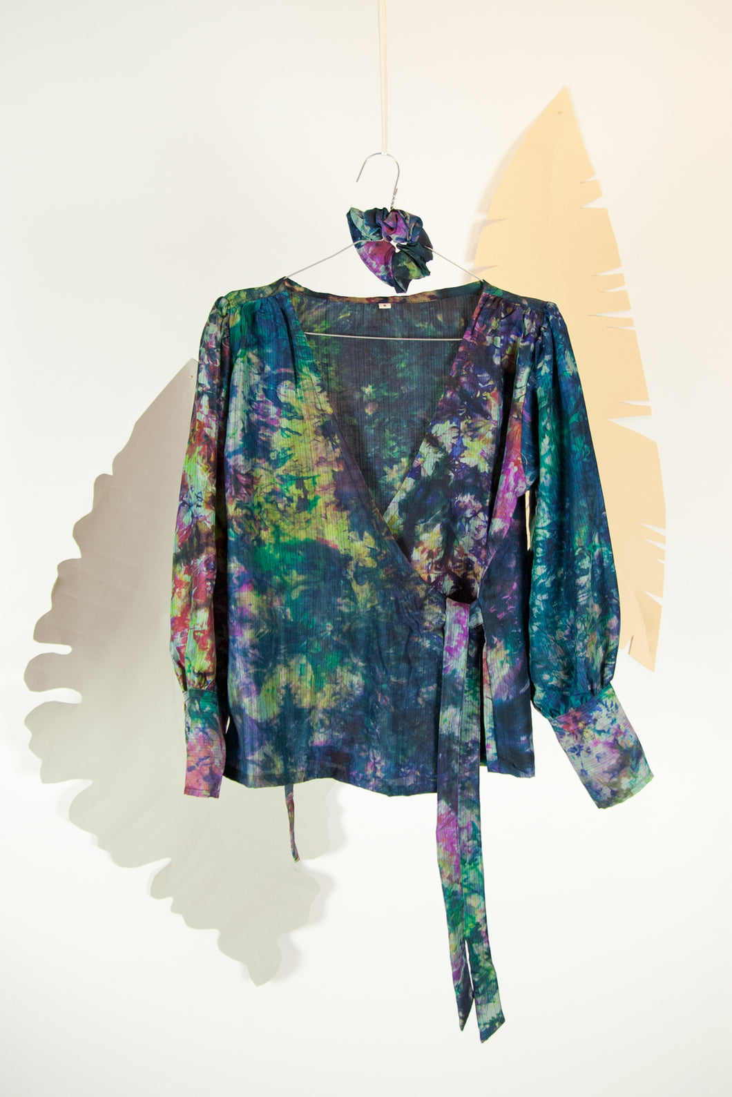 A Splash of Batik Blouse - S #21