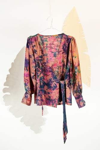 A Splash of Batik Blouse - M #23