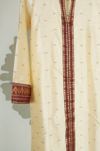 Ikat Saree Kurta Dress - S #01