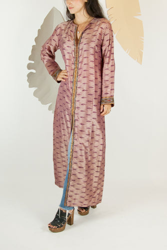 Ikat Saree Kurta Dress - M #02