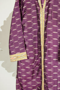 Ikat Saree Kurta Dress - S #04