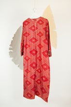 Ikat Saree Kurta Dress - M #05