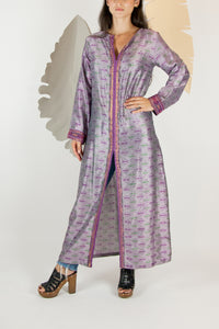 Ikat Saree Kurta Dress - S #05