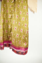 Ikat Saree Wrap Dress - M #01
