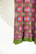 Ikat Saree Wrap Dress - S #02