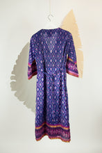 Ikat Saree Wrap Dress - M #03