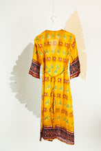 Ikat Saree Wrap Dress - S #05