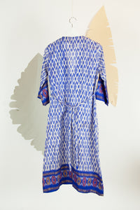Ikat Saree Wrap Dress - S #06