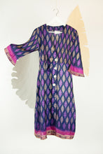 Ikat Saree Wrap Dress - M #08