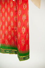 Ikat Saree Wrap Dress - M #11