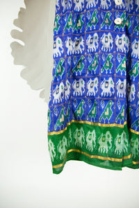 Ikat Saree Wrap Dress - M #13