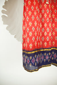 Ikat Saree Wrap Dress - M #15