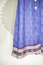 Ikat Saree Wrap Dress - S #16