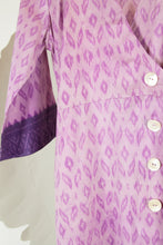 Ikat Saree Wrap Dress - M #19
