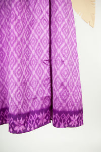 Ikat Saree Wrap Dress - S #19