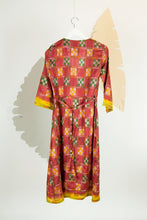 Ikat Saree Wrap Dress - S #21