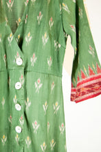 Ikat Saree Wrap Dress - M #24