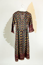 Ikat Saree Wrap Dress - S #25