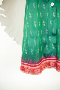Ikat Saree Wrap Dress - M #26