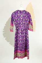 Ikat Saree Wrap Dress - S #26
