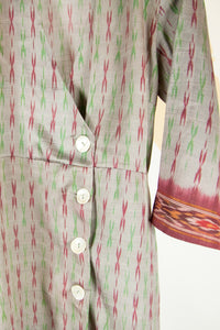 Ikat Saree Wrap Dress - M #27
