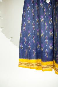 Ikat Saree Wrap Dress - S #27