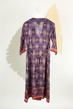 Ikat Saree Wrap Dress - S #28
