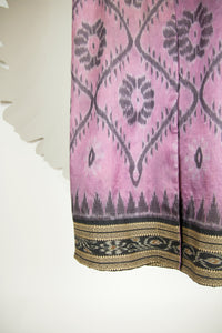 Ikat Saree Wrap Dress - S #29