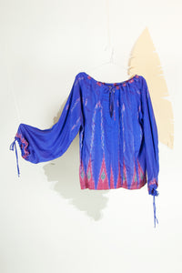 Ikat Saree Smock Top #01