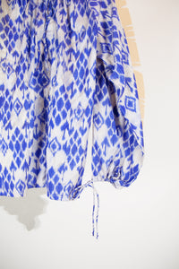 Ikat Saree Smock Top #03