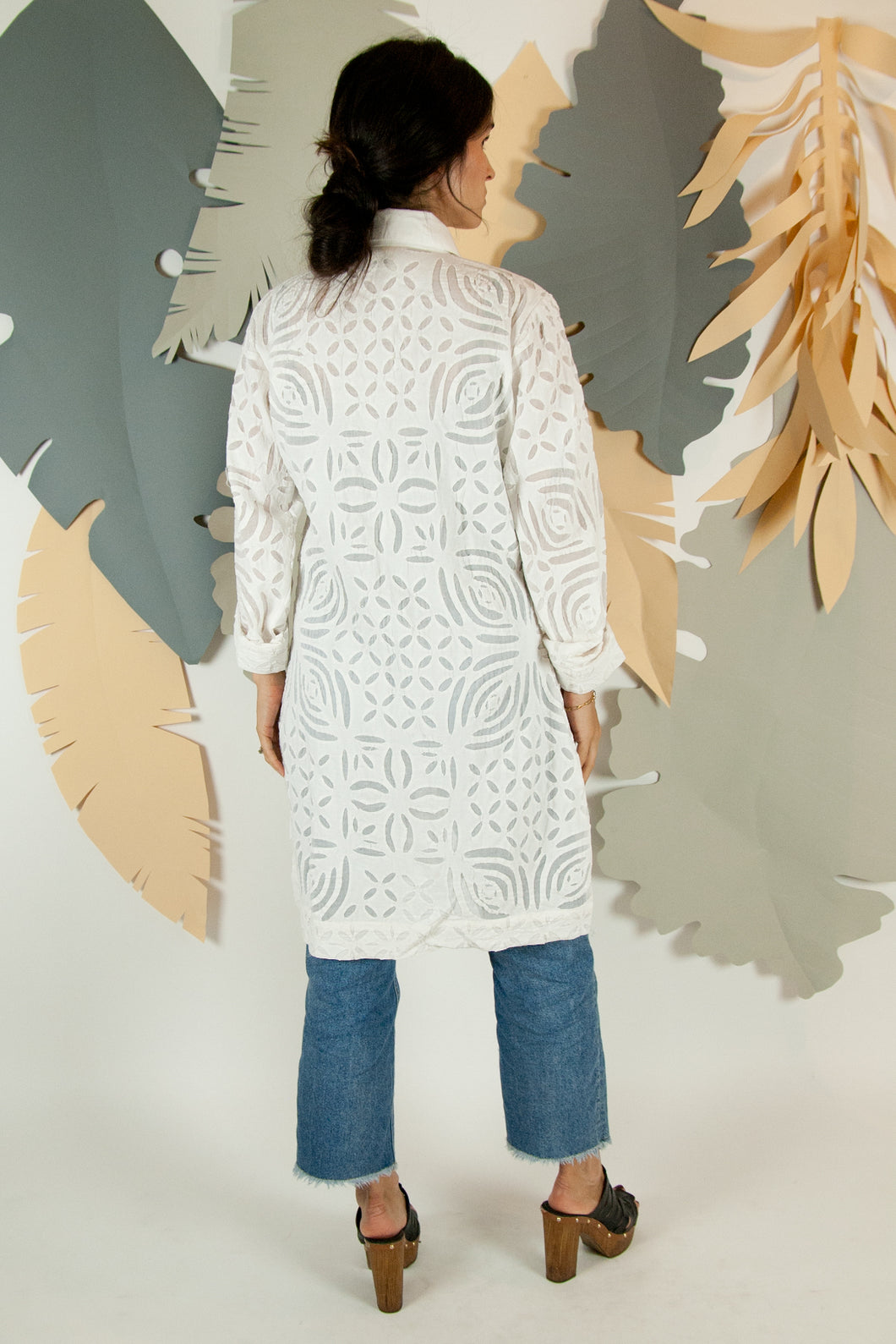Appliqué Cloud Robe - S #01