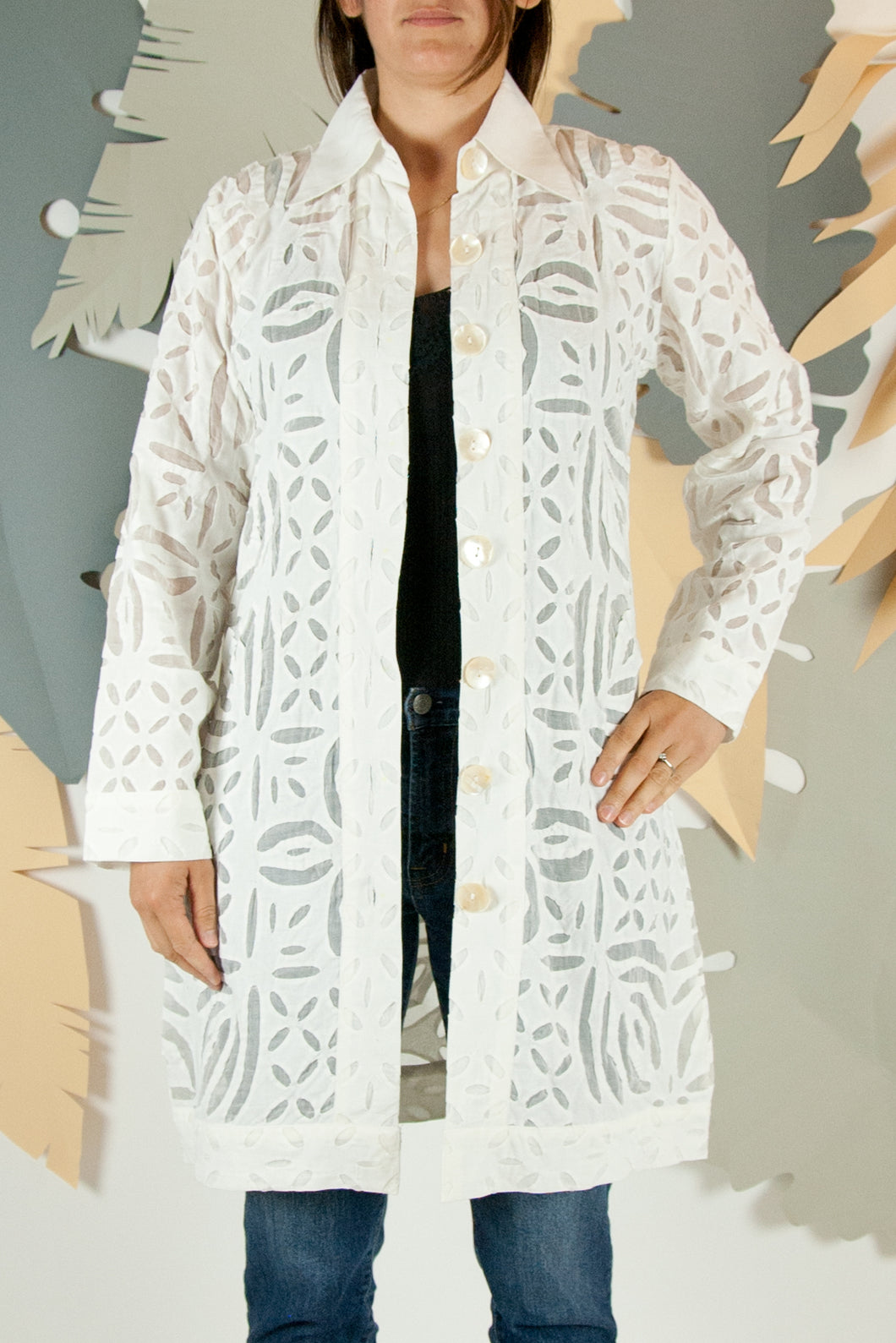 Appliqué Cloud Robe - M #02