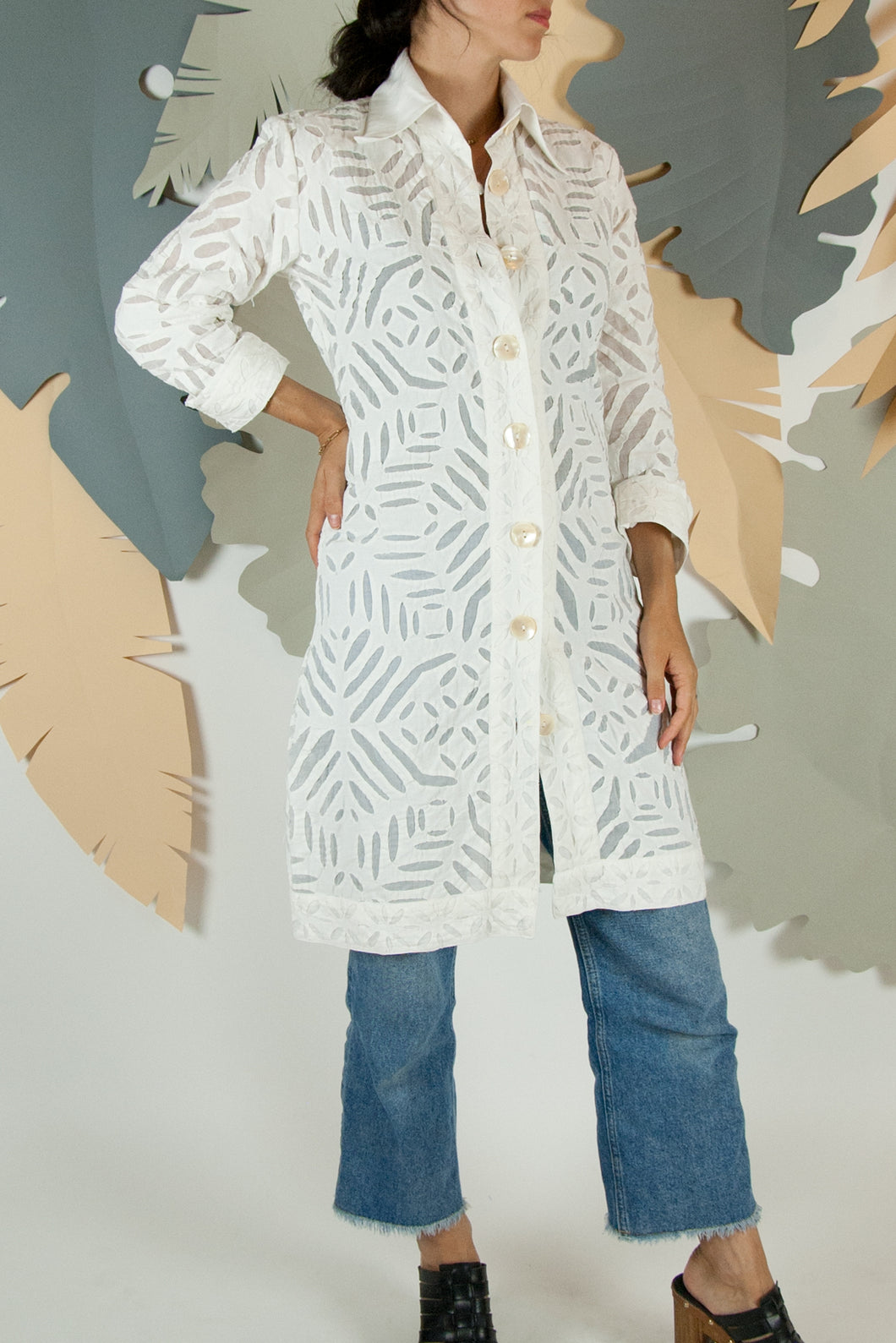 Appliqué Cloud Robe - XS #07