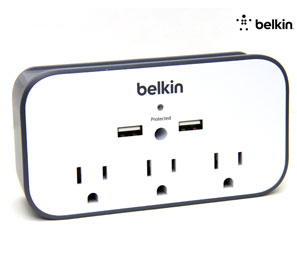 Wall Mount USB Surge Protector with Cradle - Shop Android