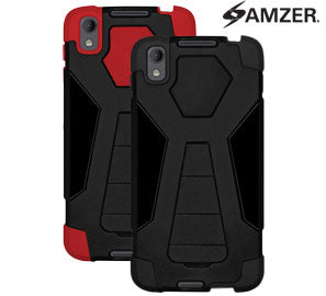 AMZER Dual Layer Hybrid KickStand Case - Shop Android