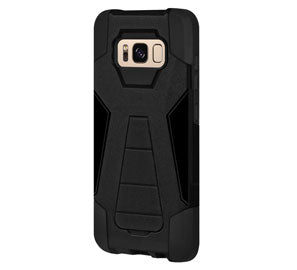 Amzer Dual Layer Hybrid Kickstand Case for Samsung Galaxy S8 Plus