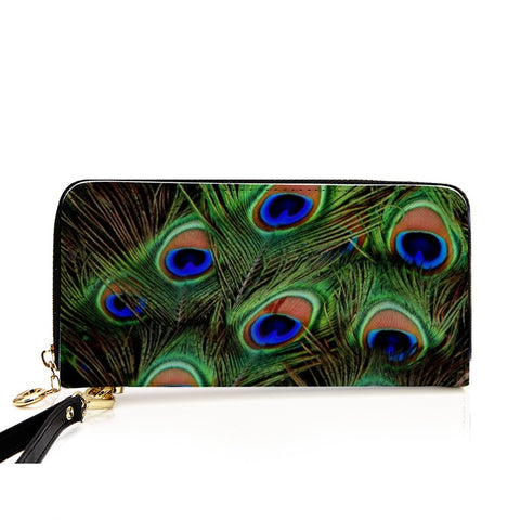 Unisex PU Leather Wallet Clutch Purse - Birds' Splendor