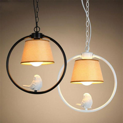 Country Bird Elegant Lamp - Birds' Splendor