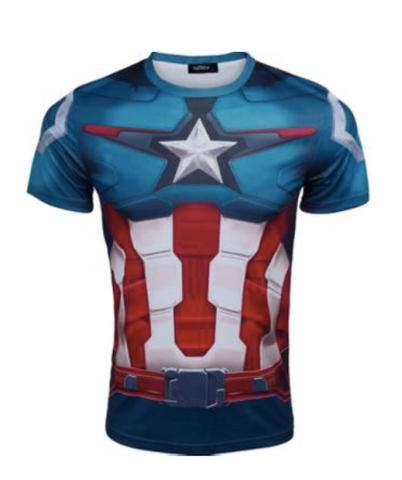 Captain America Athletic Short Sleeve