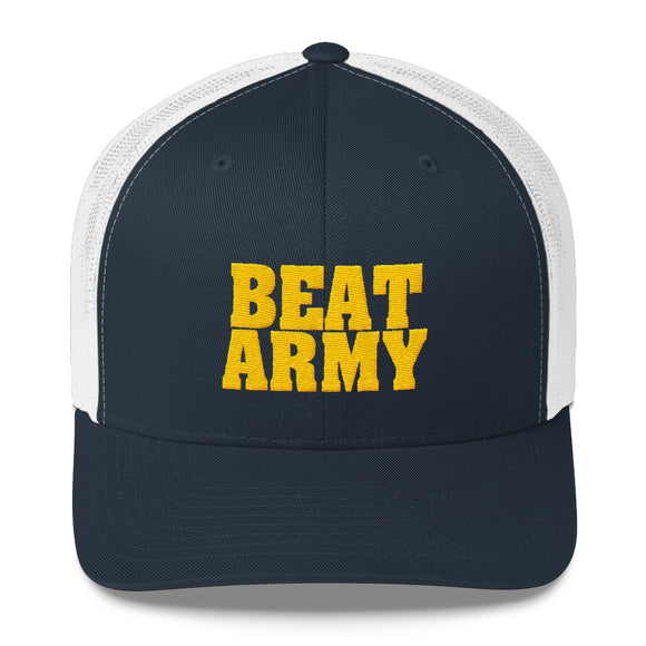 Navy Beat Army Trucker Cap