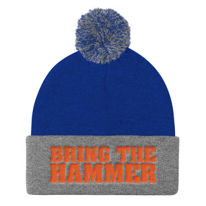 Bring The Hammer Pom Pom Knit Cap