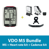 VDO Bicycle Computer M5 (wireless) bundle w/heart rate & cadence - ZEITBIKE