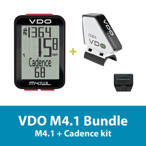 VDO Bicycle Computer M4.1 (wireless) bundle w/ cadence - ZEITBIKE