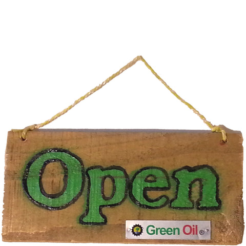 Green Oil - Open/Close Sign - ZEITBIKE